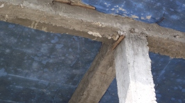 bad concrete work at a local community college in nepal