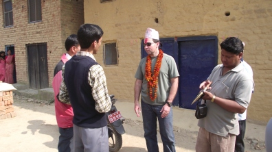 Jeff Gaura wearing a topi