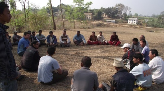 Jeff Gaura meeting with the community leaders for the proposed school in Ghorahi, Dang.