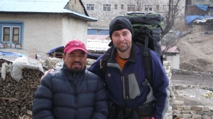 "Jeff Gaura and the founder of the Nepali Himalayan Porter's Association.  His stories of ""before and after"" brought tears to my eyes."