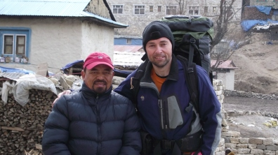 Jeff Gaura and the founder of the Nepali Himalayan Porter's Association