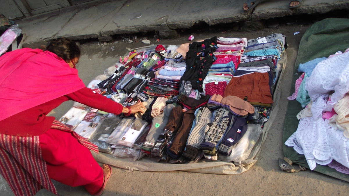 clothes vendor in nepal