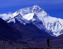 view near Kala Pattar looking towards Everest in Nepal