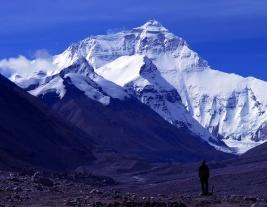 view near Kala Pattar looking towards Everest in Nepal