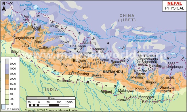 detailed map of india and nepal relationship