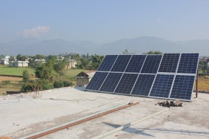 The Nepal Project puts solar panels on the roof at Madan Bhandary School